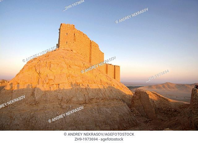 Medieval Arab fortress - Qala'at Ibn Maan (Ibn Maan castle, Fakhr al-Din al-Maani Castle), Palmyra, Syria