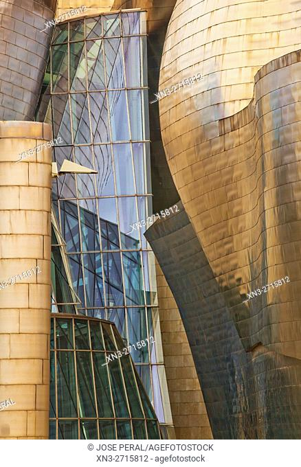 Guggenheim Museum by Frank O. Gehry, Bilbao, Biscay, Basque Country, Spain, Europe