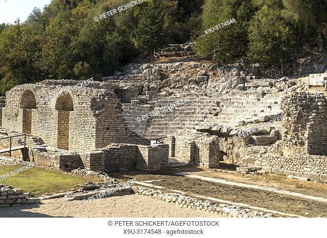 Asklepios-Heiligtum und Theater in Butrint, Albanien, Europa | Sanctuary of Asclepius and the Theatre of Butrint or Buthrotum, Albania, Europe