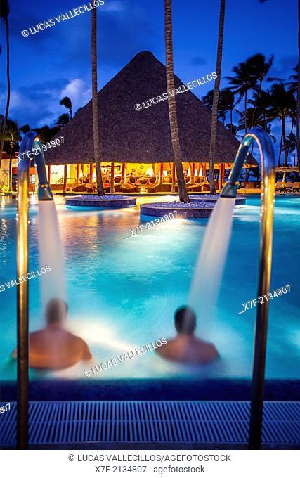 swimming pool, Barcelo Bavaro Beach Resort, Punta Cana, Dominican Republic