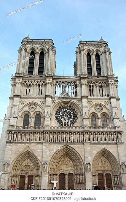 ***FILE PHOTO*** Notre-Dame de Paris, medieval Catholic cathedral, is seen in Paris, France, on August 28, 2012. (CTK Photo/Jiri Vatka)