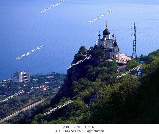 The Ukraine, the Crimea, Foross church on a rock