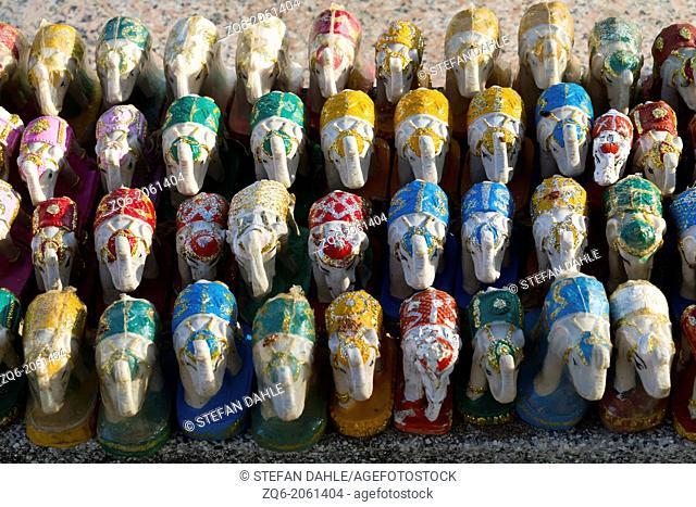 Elephant Sculptures on Cape Laem Promthep, Thailand