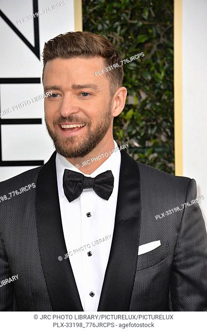 Justin Timberlake at the 74th Golden Globe Awards at The Beverly Hilton Hotel, Los Angeles, CA , USA , January 8, 2017