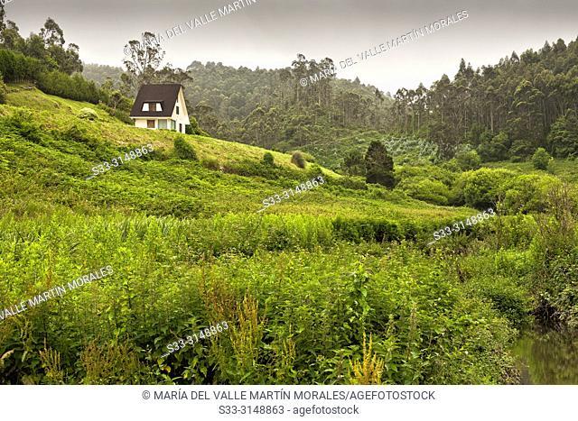 Rural house near Meron stream. Asturias. Spain