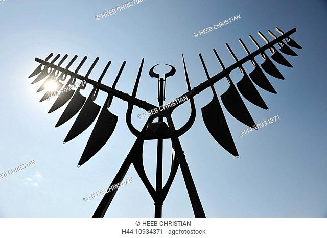 Barrie, Blue, Sky, Canada, Ontario, Sculpture, Sprit Catcher, Ron Baird, art, sculpture, silhouettes, sunburst
