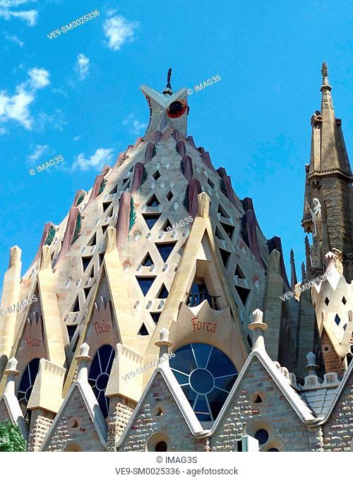 'La Sagrada Familia' cathedral by Antonio Gaudí, Barcelona, Spain