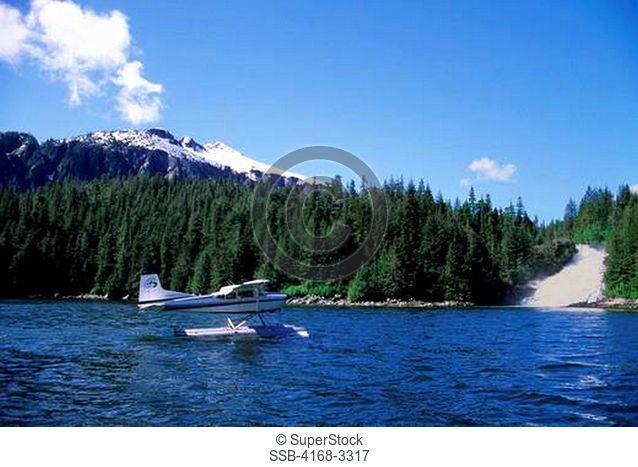 Usa, Alaska, Inside Passage, Baranof Island, Baranof, Seaplane