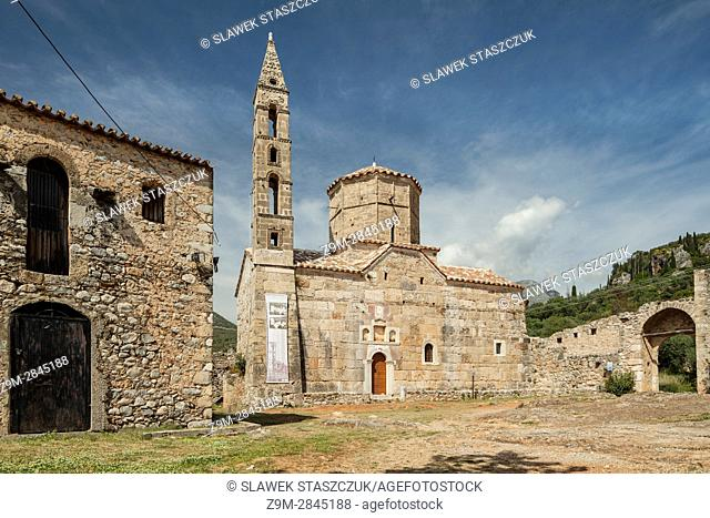 Historic buildings in Kardamili old town, Messenia, Peloponnese, Greece