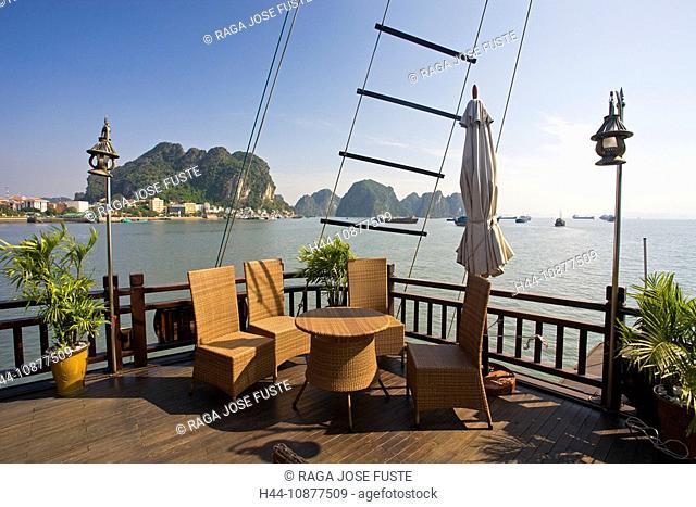 Vietnam, Asia, Far East, Halong bay, cliff formation, rock, cliff, coast, terrace, traveling, place of interest, landmark