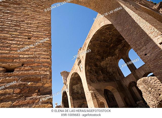 Basilica of Maxentius. Roman Forum. Rome. Italy