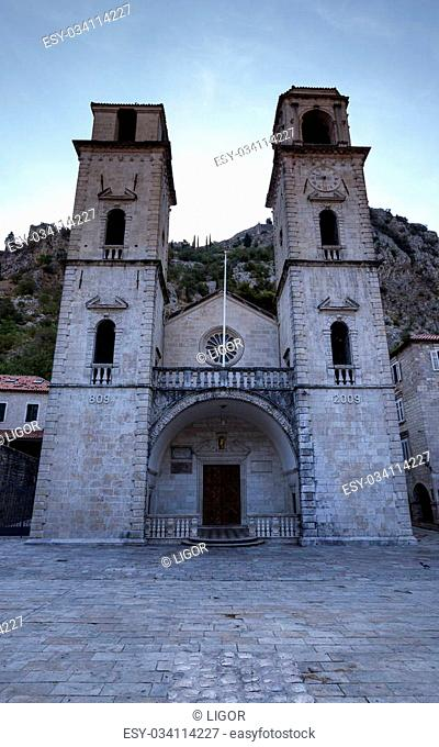 the ancient city of Kotor located in Montenegro