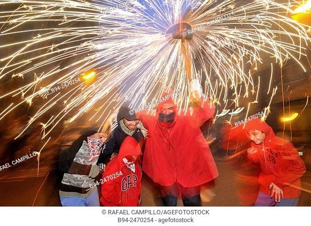 Correfocs 'fire-runs' are among the most striking features present in Catalan festivals. In the correfoc, a group of individuals will dress as devils and light...