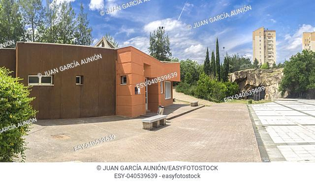 Maltravieso Cave and Visitor Centre. Famous location with Neanderthals paintings, Spain