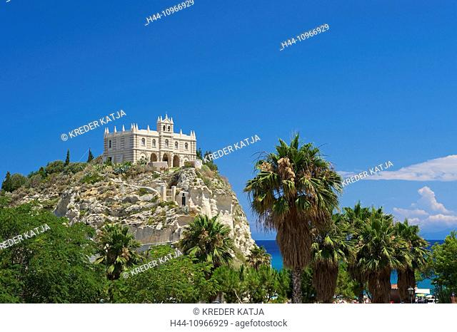 Italy, Europe, Calabria, outside, day, nobody, Tropea, Santa Maria dell'Isola, church, architecture, building, construction, religion, Christianity, Christian