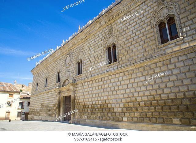 Facade of Ducal palace. Plaza Mayor, Cogolludo, Guadalajara province, Castilla La Mancha, Spain