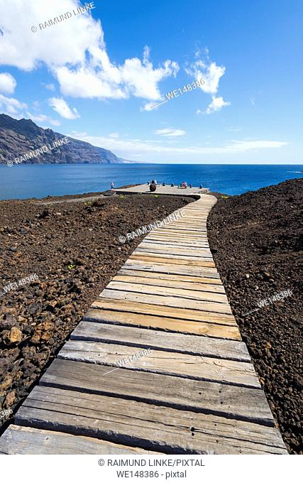 Boardwalk to the beach, Punta De Teno, Tenerife, Canary Islands, Spain