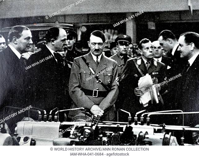 Adolf Hitler 1889-1945. German politician at a automobile exhibition in Berlin 1935
