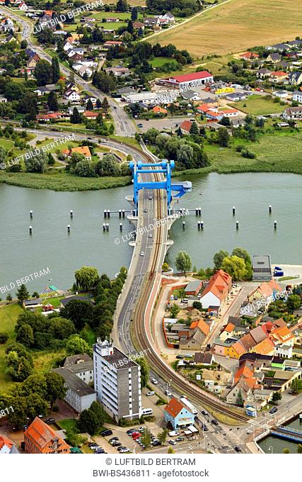Wolgast bridge, 17.08.2016, aerial photo, Germany, Mecklenburg-Western Pomerania, Wolgast