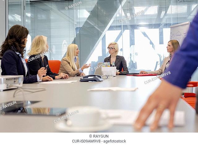 Women having meeting in office
