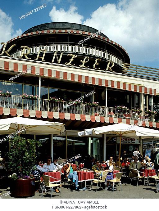Germany. Berlin. Kurfurstendamm. Cafe Keanzler