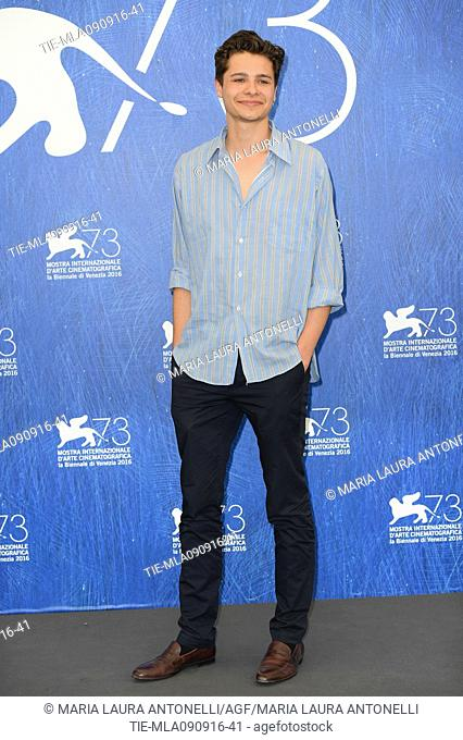 The actor Toby Wallace during the photocall of film Boys in the trees at 73rd Venice Film Festival, Venice, ITALY-09-09-2016
