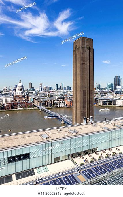 England, London, Tate Modern, View of The City of London Skyline