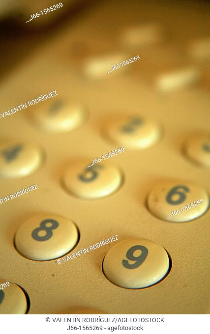 details of the phone keys