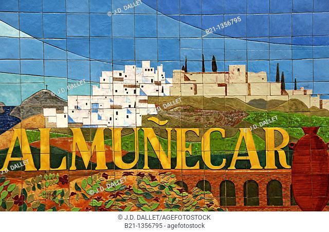Ceramic tiles, Almuñecar, Granada province, Andalusia, Spain