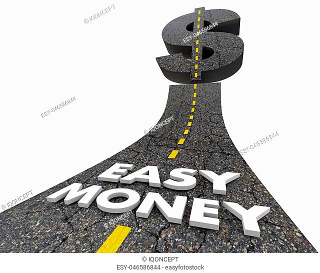 Easy Money Road Quick Fast Income Revenue 3d Illustration