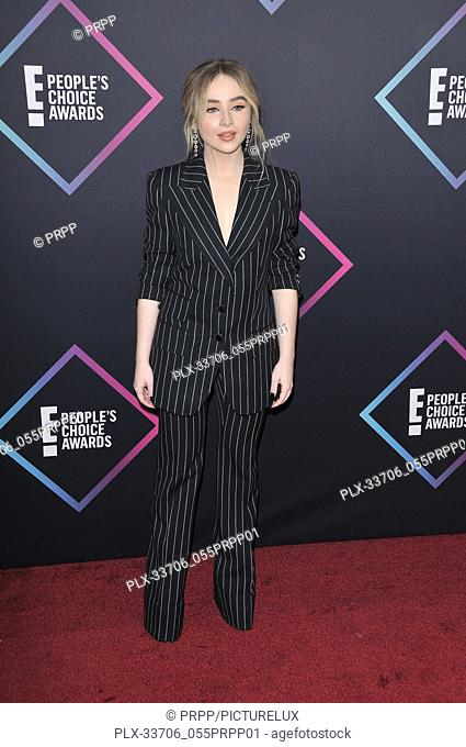Sabrina Carpenter at E! People's Choice Awards held at the Barker Hangar in Santa Monica, CA on Sunday, November 11, 2018. Photo by PRPP / PictureLux
