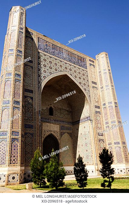 Bibi Khanym Mosque, also known as Bibi Khanum Mosque, Samarkand, Uzbekistan
