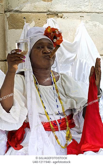 Cuba, Havana, Santeria Priestess