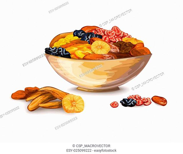 Dried Fruits Composition