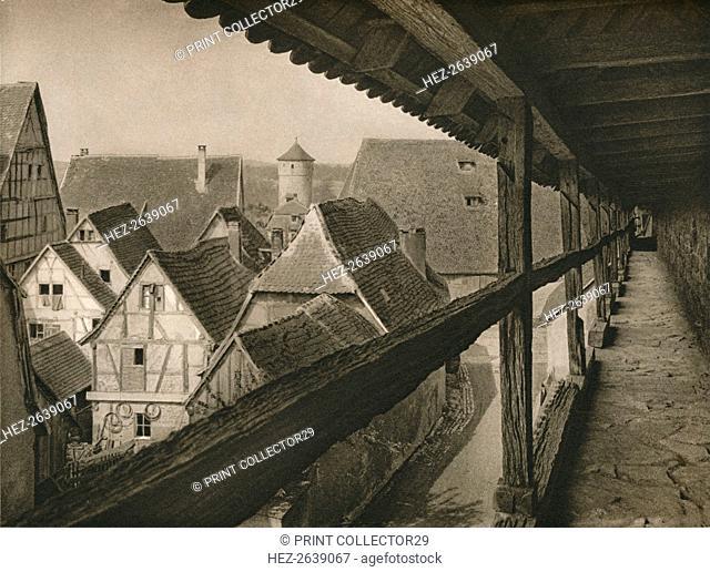 'Rothenburg o. d. T. - Wehrgang. Archer's gallery', 1931. Artist: Kurt Hielscher