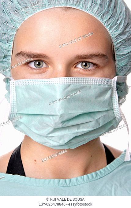 young woman nurse portrait, close up picture