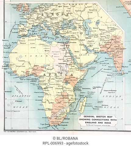 19th Century Africa Map.Map South Africa 19th Century Stock Photos And Images Age Fotostock