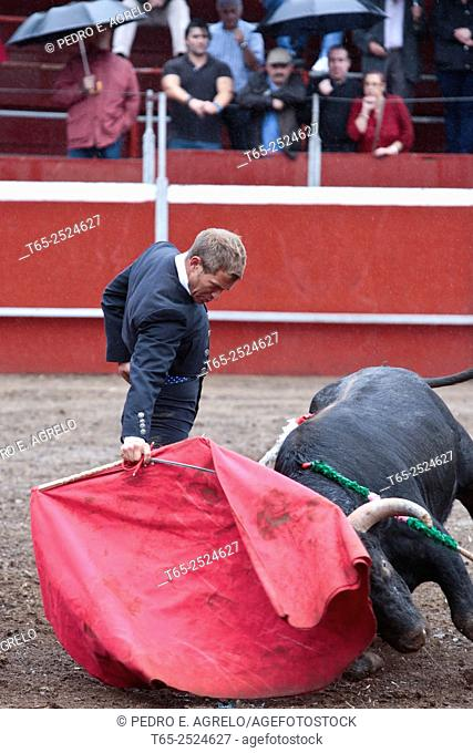 Triacastela, Lugo, bullfight organized by the bullfighting businessman Juan Santos. The run has generated much controversy after the cancellation of the summer...