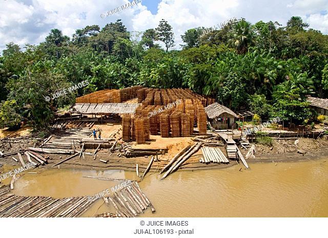 Lumber industry at Breves Channels, Brazil