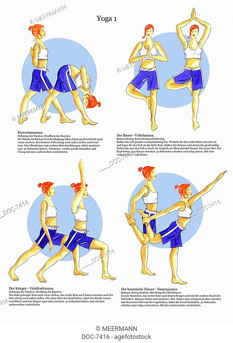 Yoga Positions of The Warriors The cosmic dancer The extension tree of the flanks