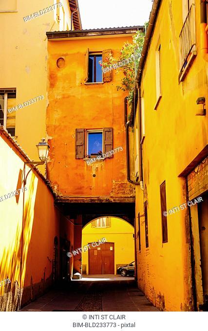 Alley in Bologna, Emilia-Romagna, Italy
