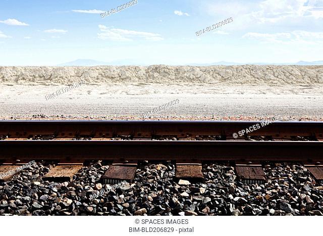 Railroad Tracks Through the Salt Flats