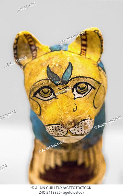 """Exhibition """"""""The animal kingdom in Ancient Egypt"""""""", organized in 2015 by the Louvre Museum and displayed successively in Lens, Madrid and Barcelona"""
