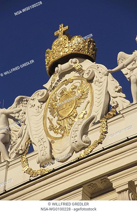 The coat of arms of Emperor Charles VI in Vienna's Hofburg