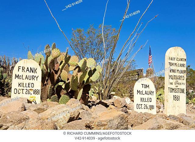 Boothill Graveyard, Tombstone, Cochise County, Arizona, USA