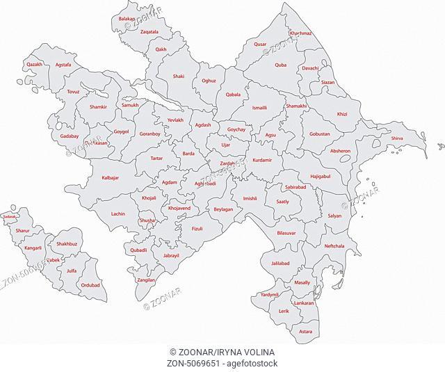 Grey Azerbaijan map