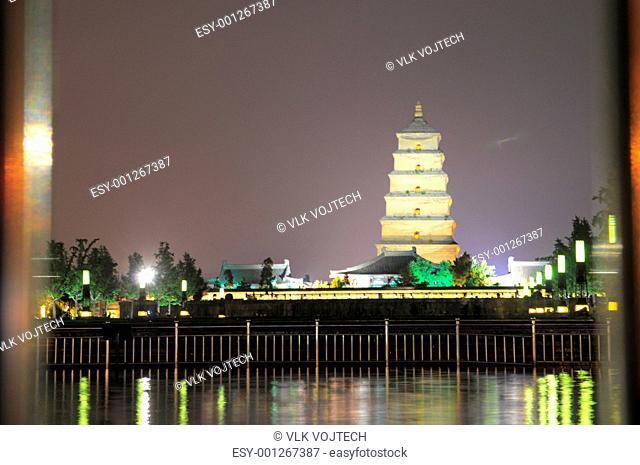 Goose Pagoda in Xian, home of the Terra Cotta Warrior