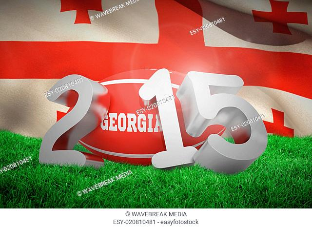 Composite image of georgia rugby 2015 message