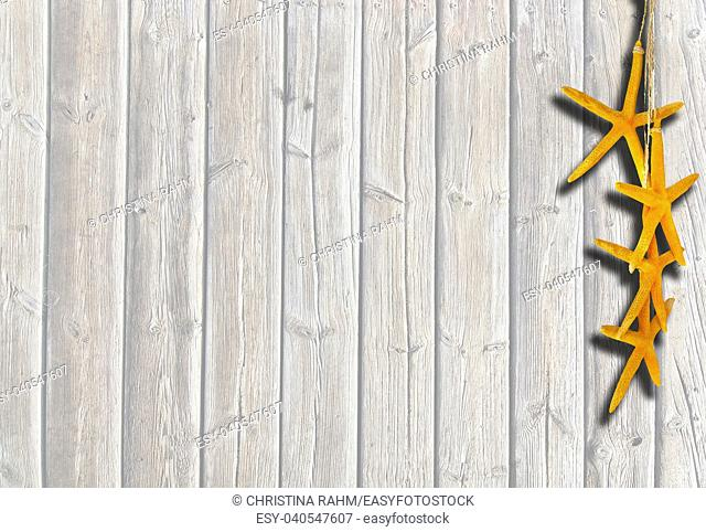 Brown weathered boardwalk planks background in Mallorca Balearic islands, Spain