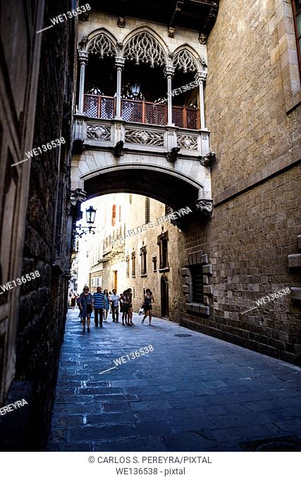 'Calle del Obispo Iruita'. Gothic quarter. Barcelona. Spain